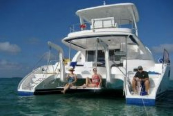 Preowned Power Catamarans for Sale 2007 Leopard 47 Deck & Equipment